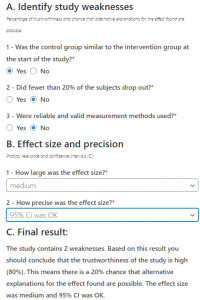 CAT – Critically Appraised Topic Manager A tool, partially and freely adapted by the EPAdb team from CEBMa CAT Critically Appraised Topic Manager App. It aims, in 5 to 10 minutes, to assist users to critically appraise the trustworthiness of Reviewes and Randomized Controlled Studies.