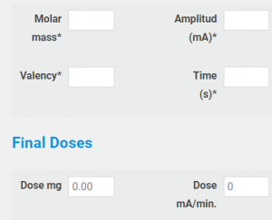 Iontophoresis dose calculation